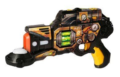WowWee Light Strike- Assault Striker S.R.- 143- Yellow-with Target by Wowwee. $40.39. (1) Light Strike Assault Striker, (1) Strike Target and (1) User Manual. Perfect your aim with included Light-up and sound FX Target!. Fully Customizable-Play how you want!. Requires: (4) AA size batteries (Assault Striker) and (3) AAA batteries (Strike Target) Batteries not included.. Light and Sound that put you on the Battlefield. Light Strike Assault Striker S.R. is the rifle-sized St...