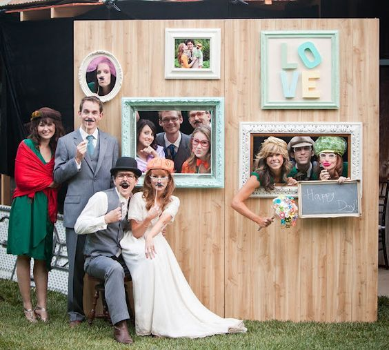 Idea para fotos de invitados de la boda