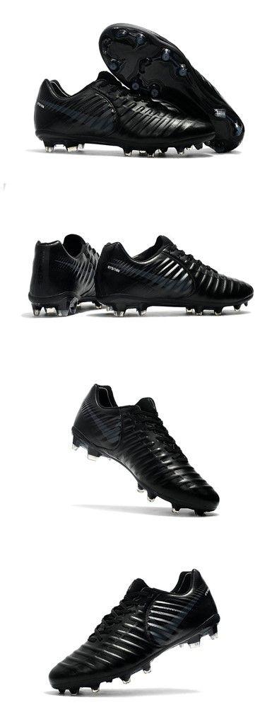 Chaussure Nike Tiempo Legend VII FG Cuir Kangourou - Tout Noir