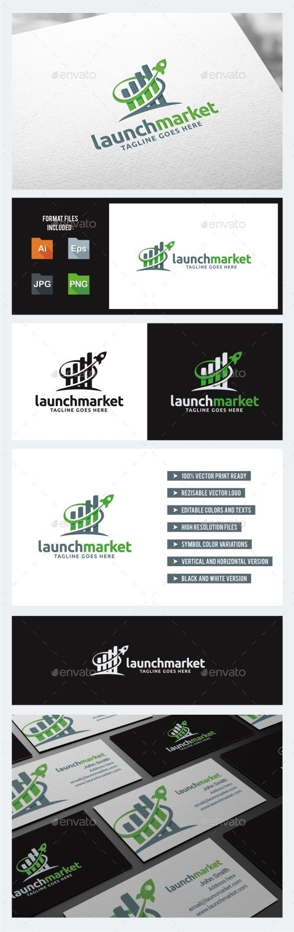 Launch Market Rocket  - Logo Design Template Vector #logotype Download it here: http://graphicriver.net/item/launch-market-rocket-logo-template/10756546?s_rank=834?ref=nexion