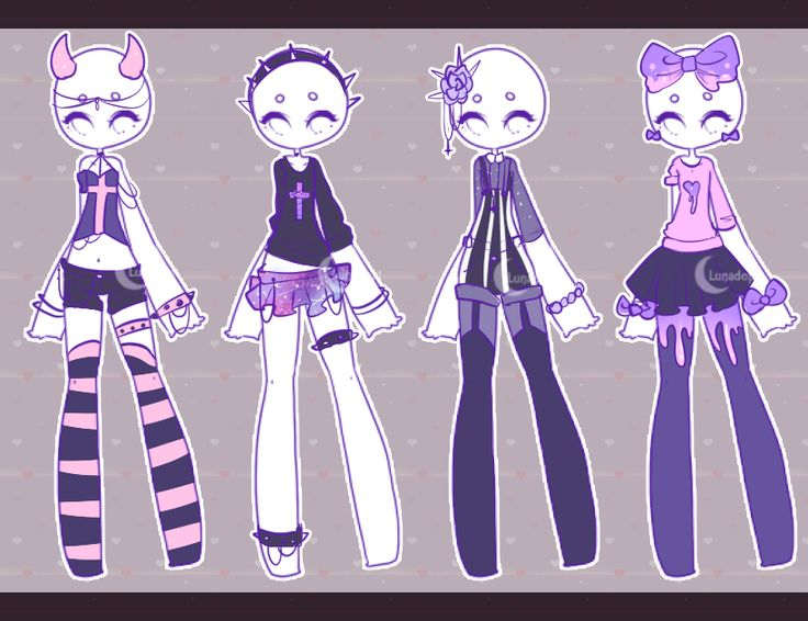 Outfit adopts Pastel goth CLOSED by Lunadopt on DeviantArt | EMO | GOTH | PUNK