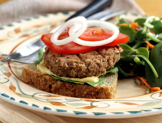 Eggplant Burgers you can cook on the grill!  #glutenfree #vegan #healthy