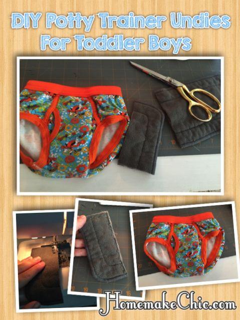super inexpensive way to make DIY toddler training pants!