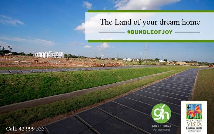 Make the dreams of owning a plot at affordable pricing in the major hotspots come true with Green Home Group.   http://bit.ly/GreenHomeVillagreenVista | 📞 044-42999555  #GreenHome #GreenHomeGroup #VistaForYou #EcoFriendly #LifeStyle