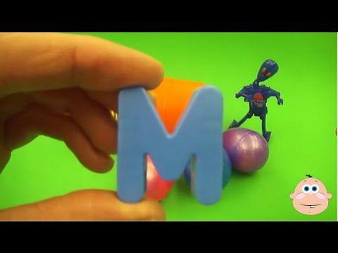 Kinder Joy Eggs Kinder Surprise Egg Learn-A-Word! Lesson 'M'