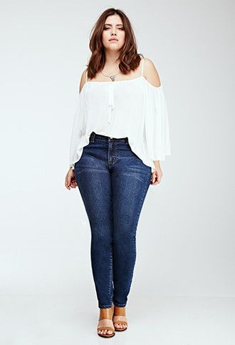 Jeans Skinny Clásicos | Forever 21 Plus - 2049257961