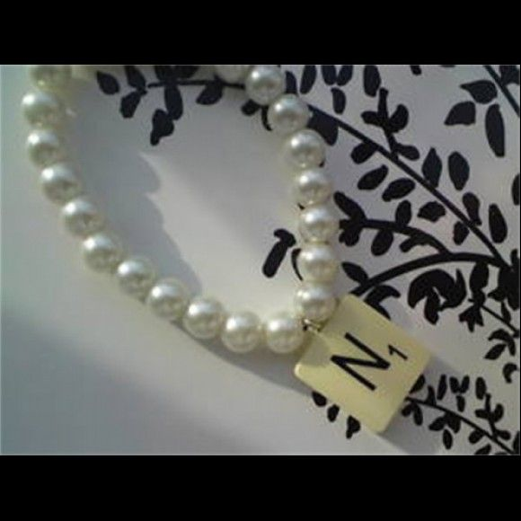 Lovely Pearl bracelet with a querky scrabble tile charm. #ukmade #madeinuk  Only £5.99 including delivery  http://www.madecloser.co.uk/jewellery-watches/pearl-scrabble