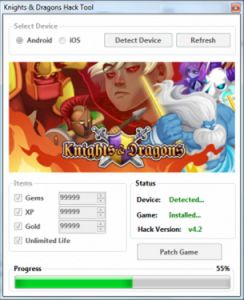 Online Knights and Dragons Hack Tool for iOS, Android. Official tool Knights and Dragons Hack Tool Online working also on Windows and Mac. Knights and Dragons hack is our best working hack tool ever. You can get unlimited Gold, Gems and Lives using our cheats tool. It's made for android and iOS.