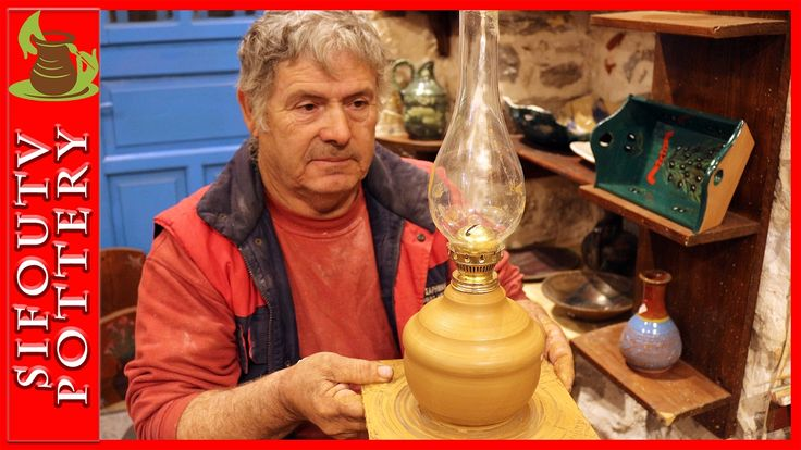 Pottery throwing - How to Make a Pottery Lamp #97