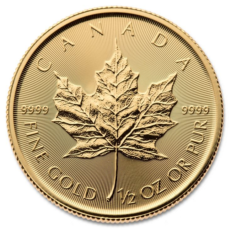 2017 CANADIAN GOLD MAPLE LEAF 1/2 OZ .9999
