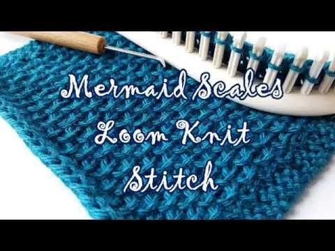 VIDEO: MERMAID SCALE STITCH: Stitchology 22 : Mermaid Scales « Knitting Board Blog
