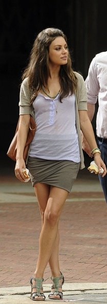 Mila Kunis // Friends With Benefits // 2011 -- i like the olive color scheme she has going