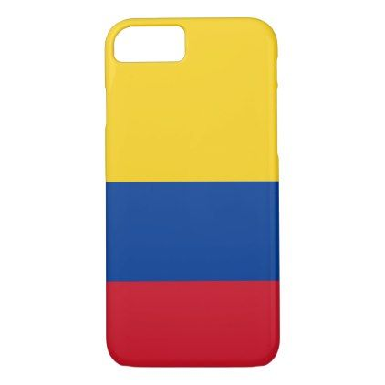 #colombian flag Apple iPhone 8/7 barely there case - #country gifts style diy gift ideas