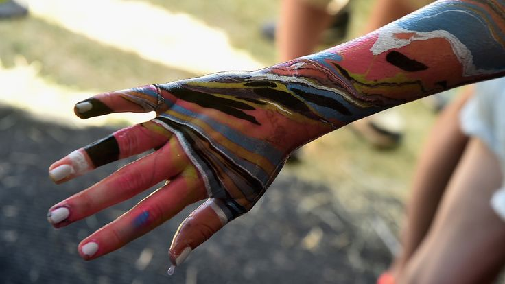 The New Body Marbling Trend is Trippy and Amazing: Turn your body into a kaleidoscope of trippy colors and designs with body marbling.