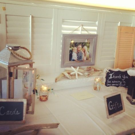 Wedding Gift Table Ideas Pinterest : Rustic beach wedding gift table wedding ideas Pinterest