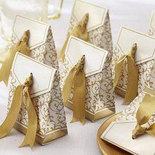 10 PCS venda Festival criativo fita de prata do casamento favores do partido caixa de presente de papel(China (Mainland))