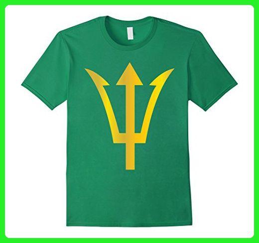 Mens Gold Poseidon Symbol Trident T Shirt Ancient Greece Power XL Kelly Green - Cities countries flags shirts (*Amazon Partner-Link)