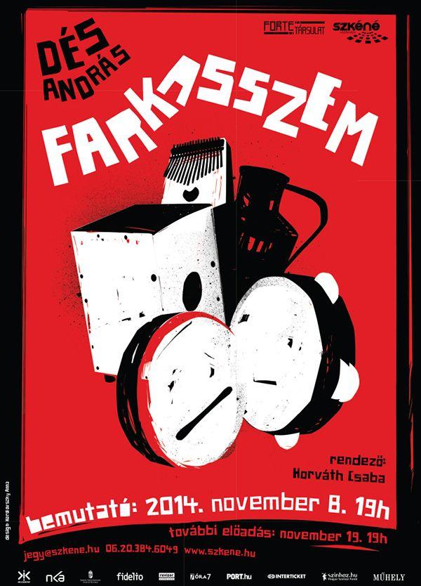 Farkasszem, András Dés, theater poster