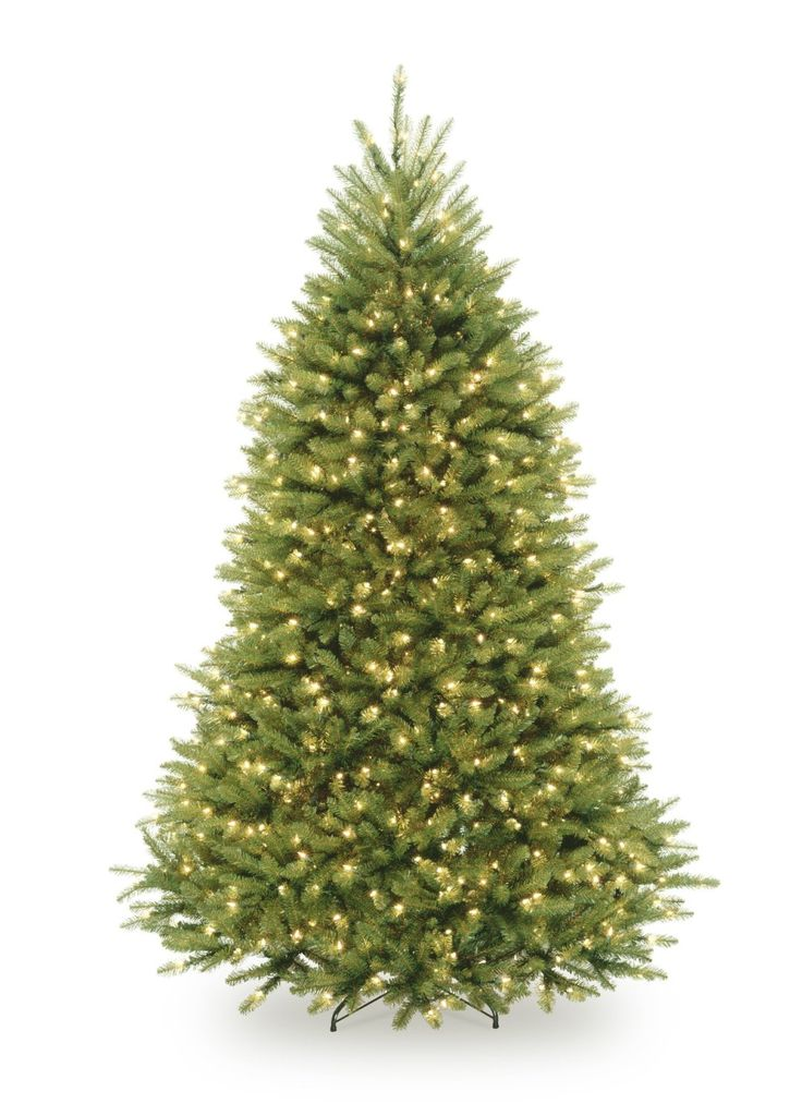 National Tree 7 1/2' Dunhill Fir Tree, Hinged, 750 Clear Lights