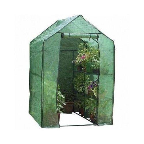 Walk In Greenhouse Shelf Portable Large Deluxe 2 Tier Garden Heavy Duty Cover
