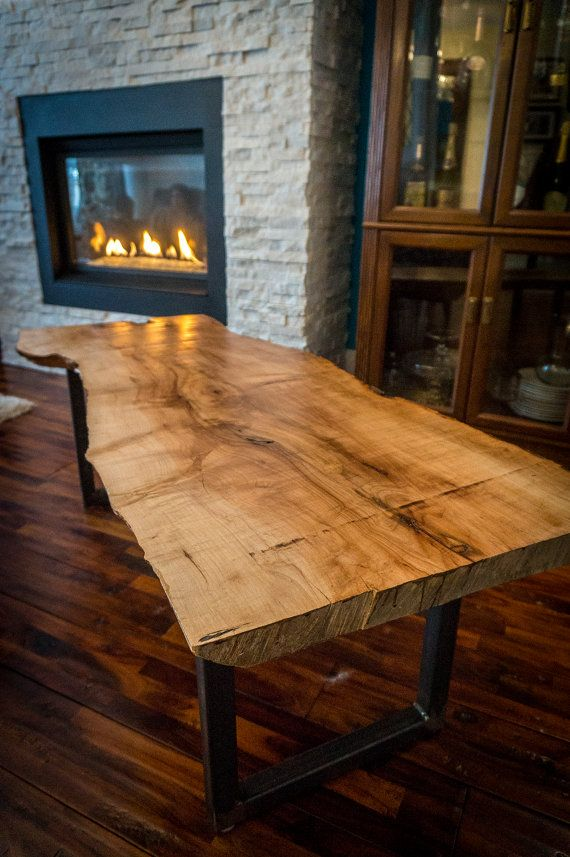 Reclaimed Silver Maple Slab Coffee Table By Streetcarprints