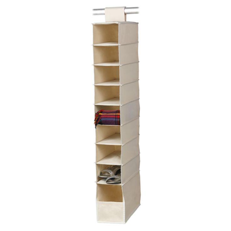 Harmony 9 Shelf Premium Hanging Wardrobe Organiser