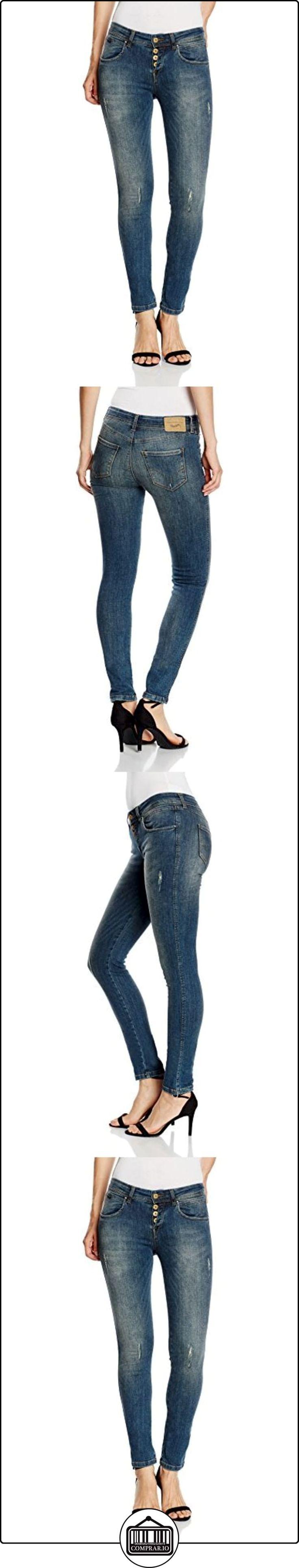 Fornarina New Maya Lux-Stretch Denim Pant, Azul para Mujer, Blau (Middel Blau AO), W32/L31  ✿ Vaqueros ✿