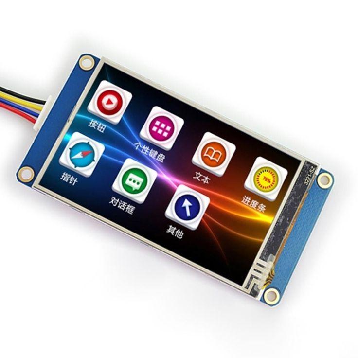 """Encontre mais Módulos LCD Informações sobre 3.2 """"Nextion HMI Inteligente inteligente USART UART Serial Toque TFT LCD módulo Do Painel de Exibição Para Raspberry Pi 2 A + B + Arduino Kits, de alta qualidade módulo oem, montagem do módulo China Fornecedores, Barato módulo transceptor de Surenoo Technology em Aliexpress.com"""