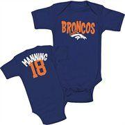 Denver Broncos Peyton Manning Infant Name & Number Creeper