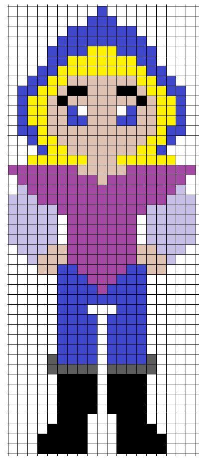 Disney  Pocahontas John Smith perler bead pattern