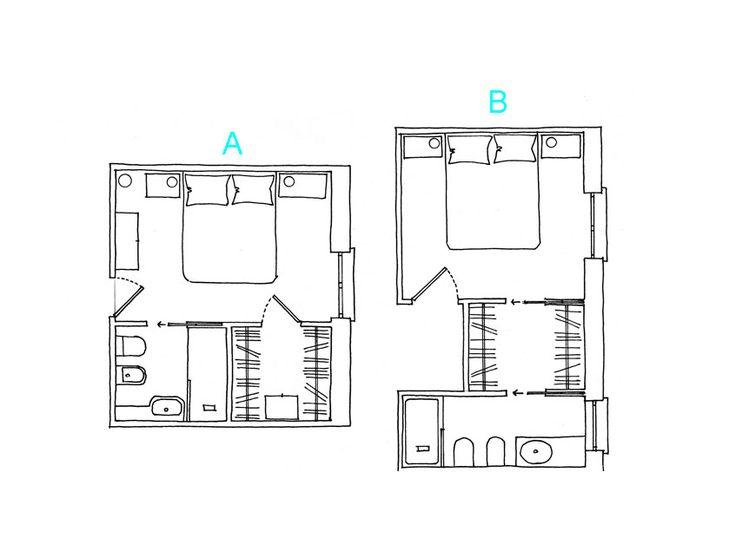 La cabina armadio da sviluppare su due lati fronteggianti richiede spazi diversi in base al tipo di organizzazione interna. Gli ingombri da tenere in considerazione sono: 60 cm di profondità [...]