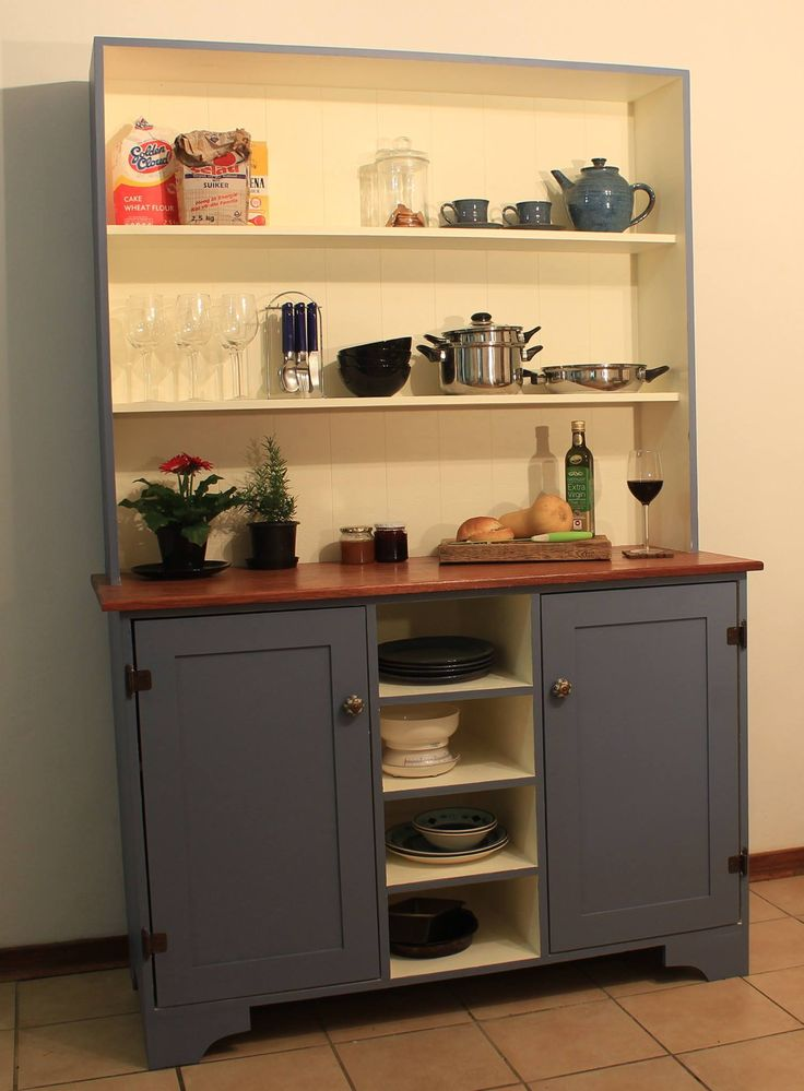FOR SALE - email bex.c.s@hotmail.com. Beautifully handcrafted old farm-style kitchen cabinet with ceramic handles