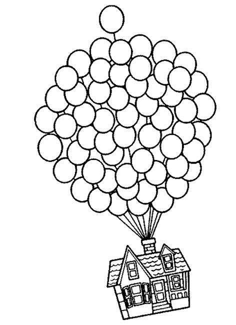 Up House Coloring Pages Cartoon Pinterest Coloring