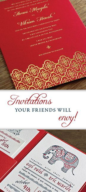 Multicultural and Bilingual Wedding Invitations   Indian Wedding Cards   Custom Indian Wedding Invitations   Invitations by Ajalon