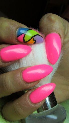 Pink nails  by Valkira - Nail Art Gallery nailartgallery.nailsmag.com by Nails Magazine www.nailsmag.com #nailart