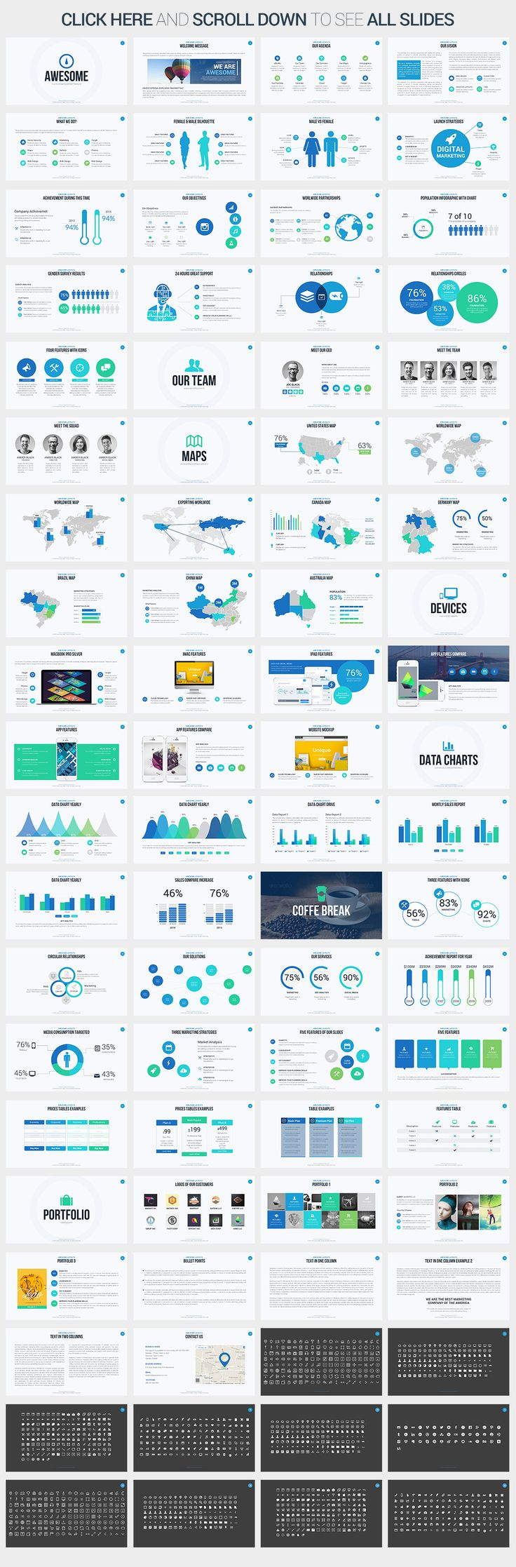 Best Best Powerpoint Templates Images On Pinterest Keynote - Awesome replace powerpoint template concept