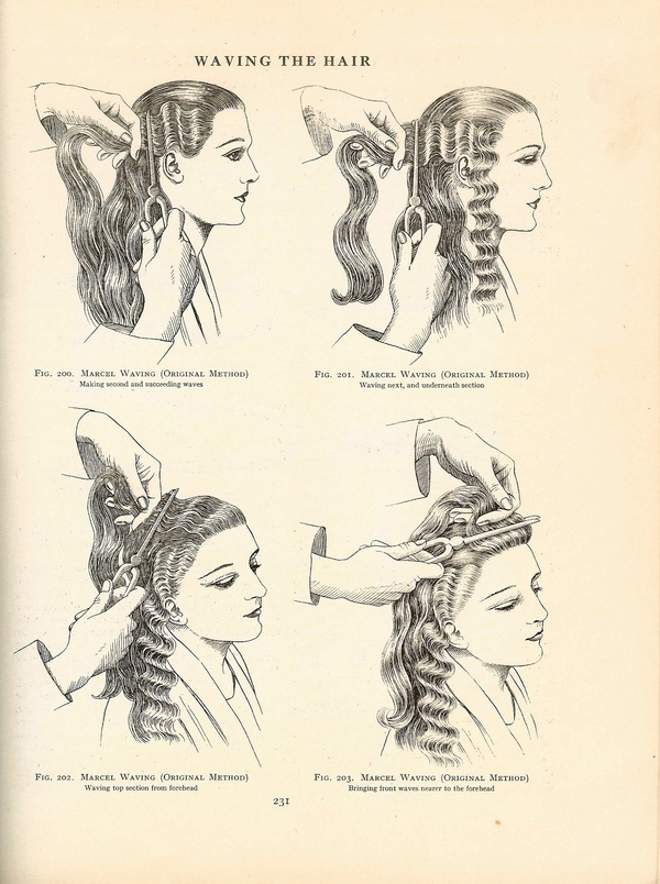 Marcel Waves, page from a1920s Hairdressing Book