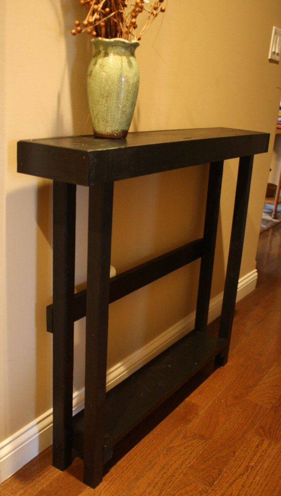 Accent Table Rustic Hall Entryway Entry Sofa Console Sleek Kettle Black Tall Skinny 6 1 4 X36 X32h Custom Sizes Colors Unique Primtiques In 2018