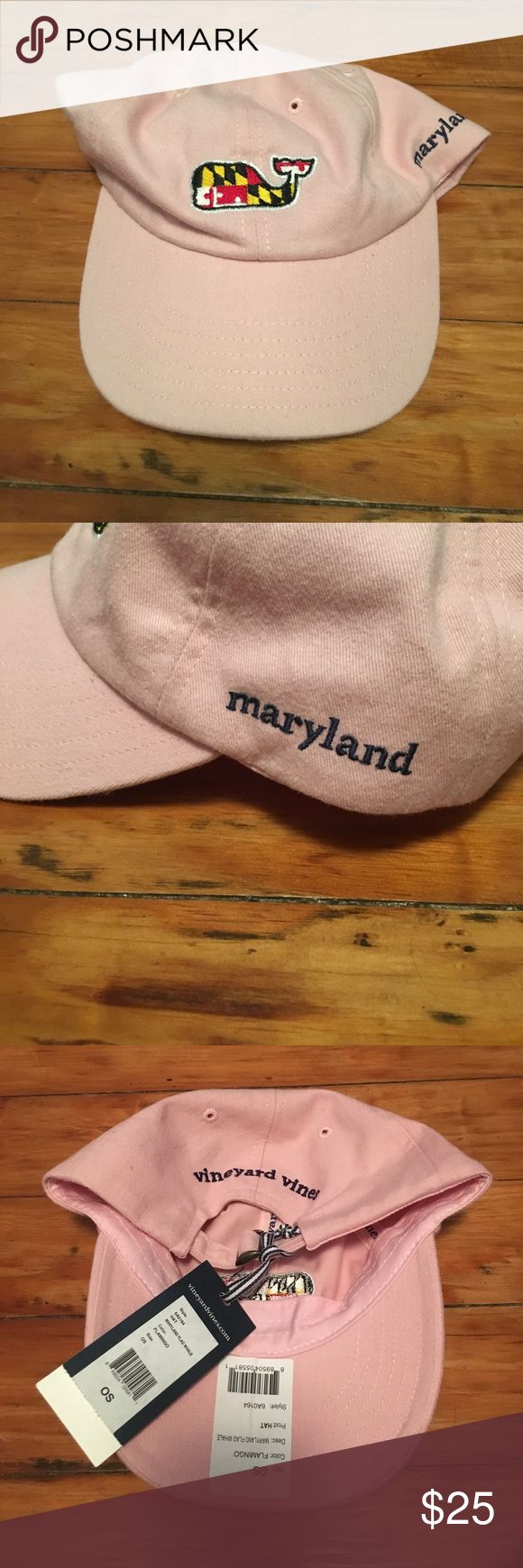 Pink Maryland Vineyard Vines hat NWT Cute pink baseball cap, Maryland print in Vineyard Vines whale, Maryland written on side Vineyard Vines Accessories Hats
