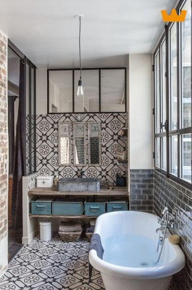 Jaren 30 badkamer met industriële accenten - www.witzand.nl