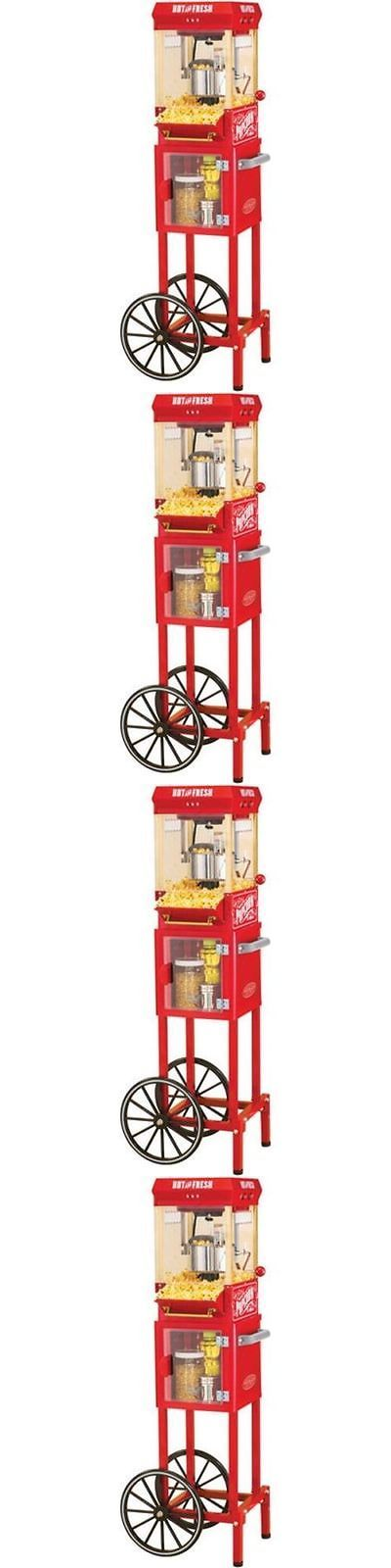 Popcorn Poppers 66752: Nostalgia Electrics Popcorn Cart Machine Popper Maker Vintage Red Stand Movie -> BUY IT NOW ONLY: $90.97 on eBay!