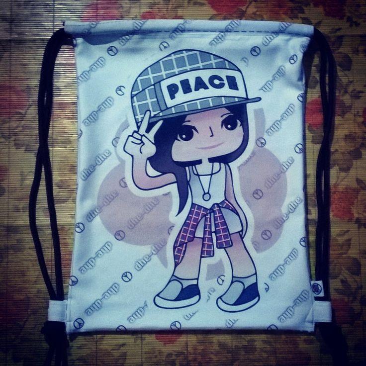 Drawstring Bag + Commission Fanart