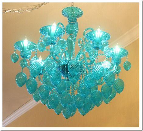 the blog post tool kit turquoise chandelierglass - Turquoise Chandelier Light