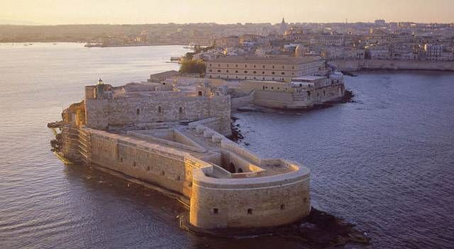 Castello Maniace a Siracusa, Sicily. UNESCO World Heritage Site.