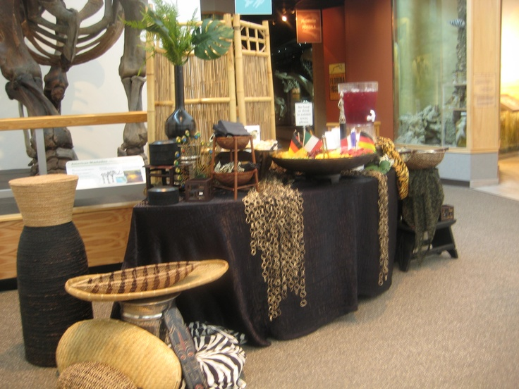 African Theme Event Galleria Buffet Table Settings