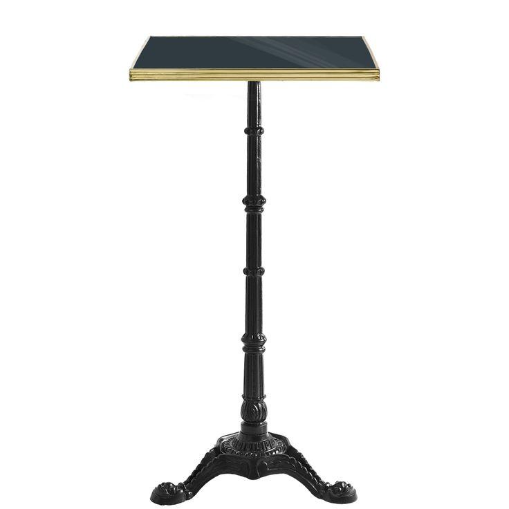 Charming High Bar Table Part - 5: High Bar Table / Grey Enamel / Brass / Cast Iron