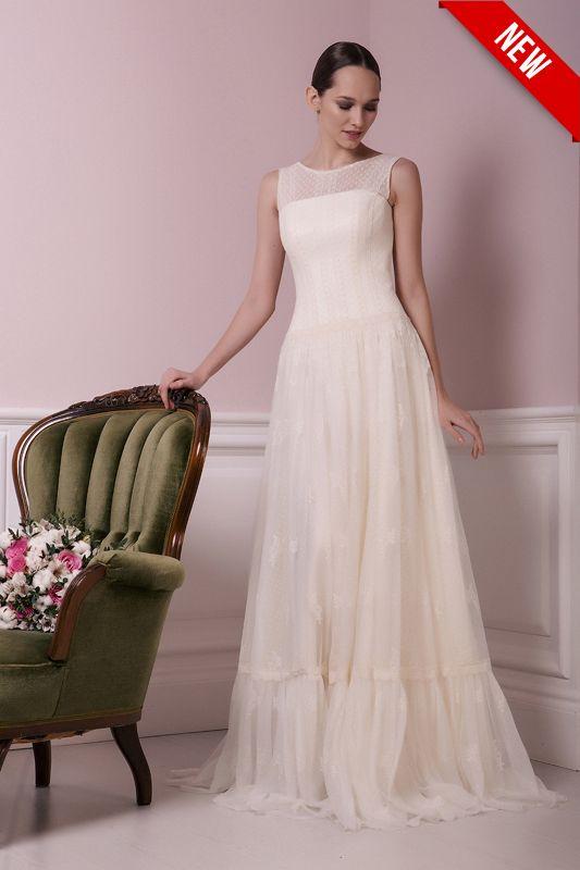 купить Классическое простое свадебное платье.