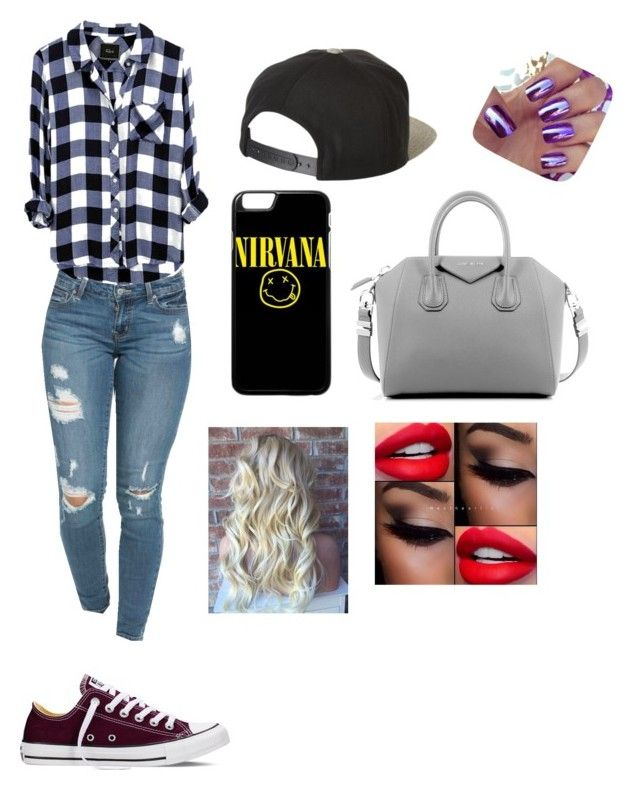 """""""Dress like Emmacakecup"""" by lulu-la-luciole on Polyvore featuring mode, Converse, Brixton et Givenchy"""