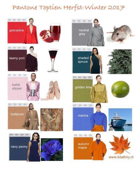 Twee keer per jaar kijkt het team van Pantone naar de kleuren die geshowd worden op de catwalks tijdens de New York Fashion Week. De Modekleuren Toptien Herfst 2017 is samengesteld door te turfen welke kleuren het vaakst langskomen op de catwalks. En zo weten wij wat er in de winkels aan kleuren komt te hangen.