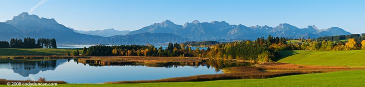 Forggensee and Allgaeu mountains, Germany